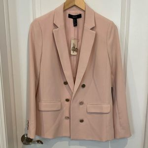 Forever 21 pink blazer with silver button detail